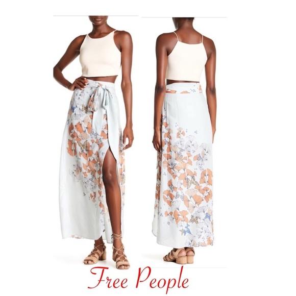 9431b95560 Free People Skirts | Bri Bri Butterfly Maxi Skirt Sz 4 Nwt | Poshmark